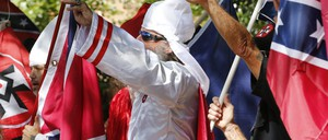 KKK members in Charlottesville, VA.