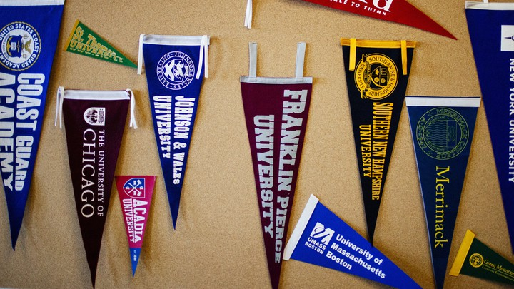 College flags