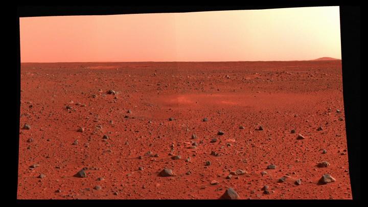 Landscape of Mars's surface