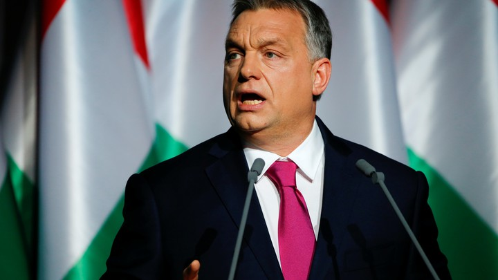 Hungarian Prime Minister Viktor Orban speaks during his state-of-the-nation address in Budapest, Hungary, on February 10, 2017.