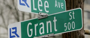 The intersection of Lee Ave. and Grant Street in Little Rock, Arkansas.