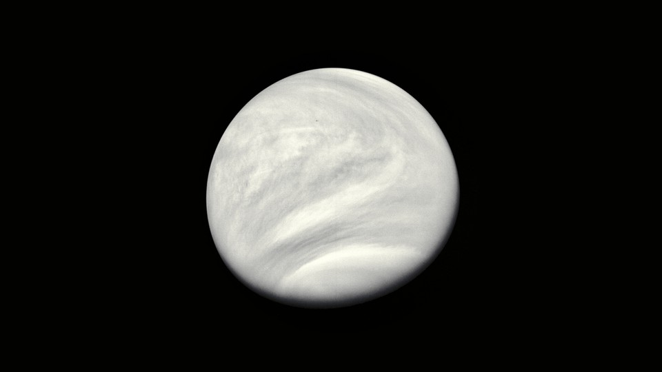 A view of the planet Venus