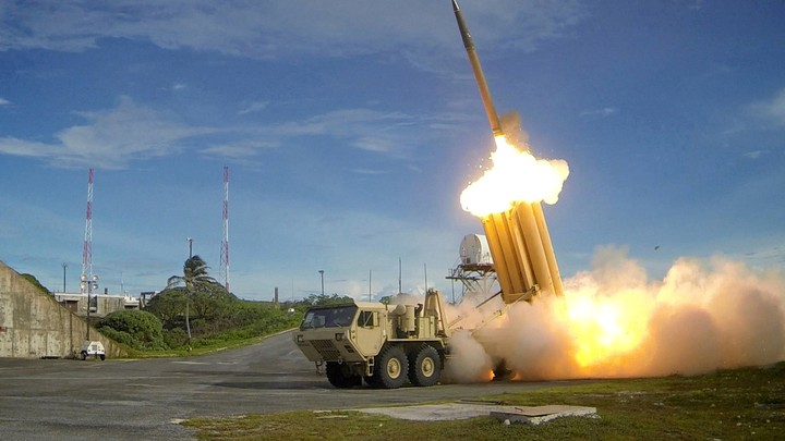 A THAAD interceptor is launched during a successful test