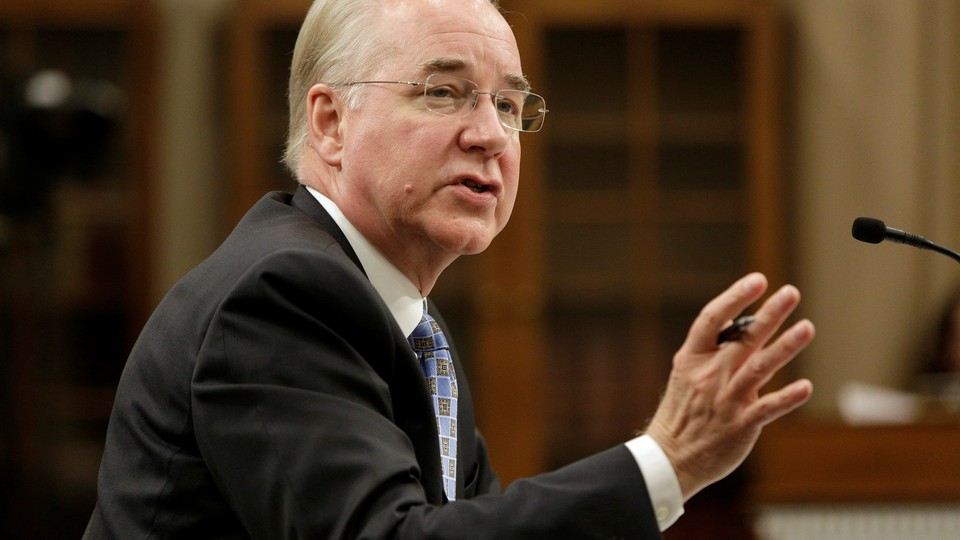 Health and Human Services Secretary Tom Price testifies before the Committee on Appropriations in Washington on March 29, 2017.
