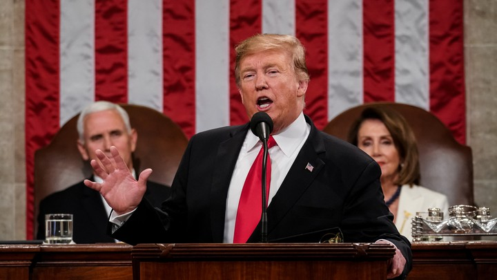Donald Trump gives the State of the Union address in 2019.