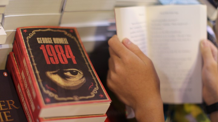 "Copies of George Orwell's ""1984"""