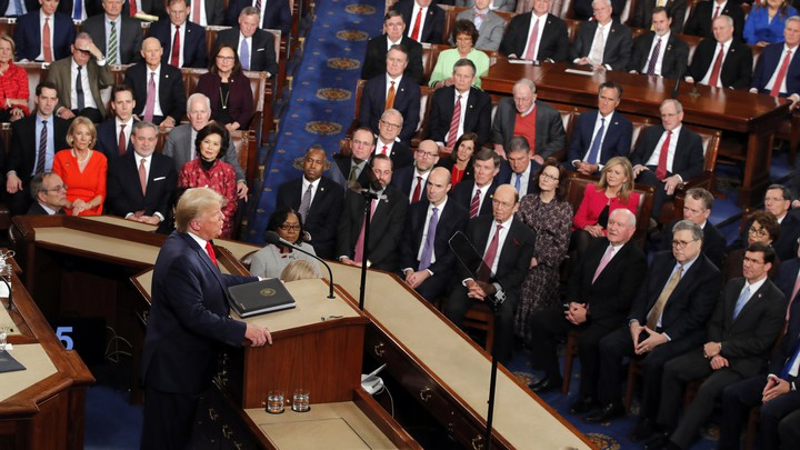 Donald Trump delivers the State of the Union address.