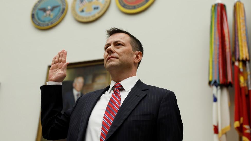 FBI Agent Peter Strzok at last week's House Judiciary Committee hearings