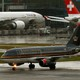 A Royal Jordanian aircraft is seen the Zurich Airport.