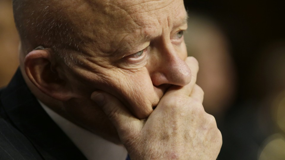 Former Director of National Intelligence James Clapper testifies before a Senate Judiciary Committee hearing on Russian interference in the 2016 U.S. election on May 8, 2017