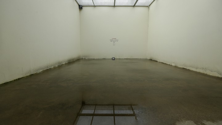 A drab, empty room within a corrections center in Washington state.