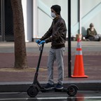 photo: a scooter rider in San Francisco