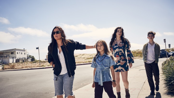 Sam (Pamela Adlon), Duke (Olivia Edward), Max (Mikey Madison), and Frankie (Hannah Alligood) in FX's Better Things