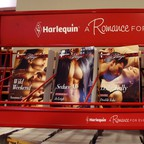 Harlequin books are pictured at a store in Ottawa.