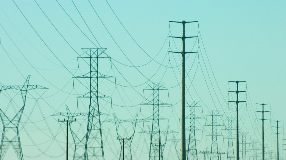 a landscape of high-tension wires