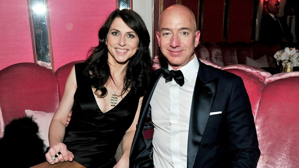 Jeff and MacKenzie Bezos in formal attire