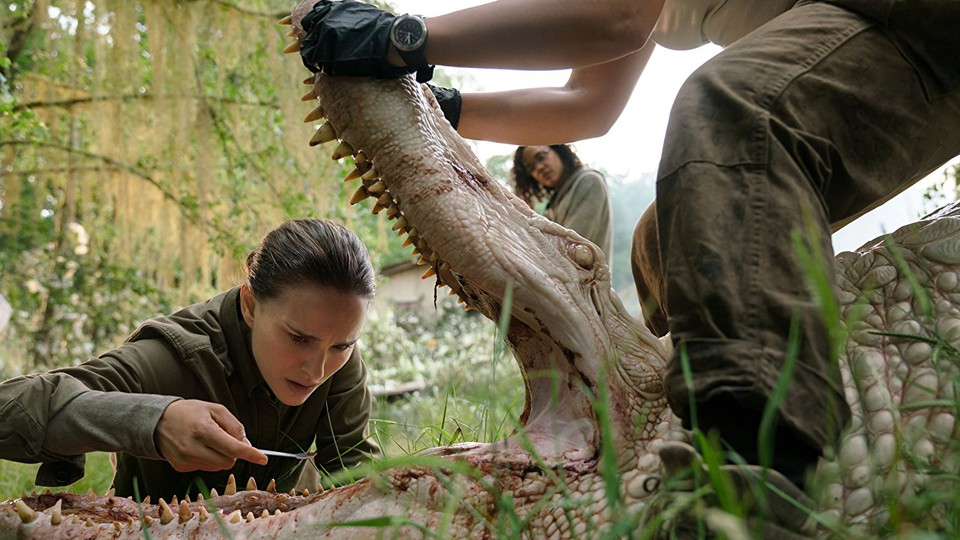 Natalie Portman as a biologist in the film adaptation of 'Annhilation'