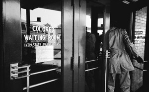 """photo of door with """"Colored Waiting Room"""""""