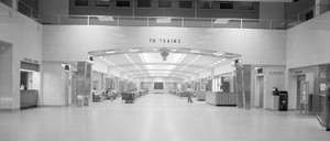 The interior of Toledo's sleek Central Union Terminal