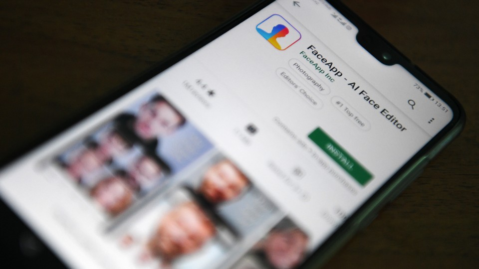 The FaceApp download page on the App Store
