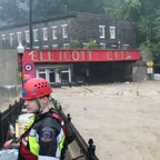 Floodwaters surge through Ellicott City, Maryland