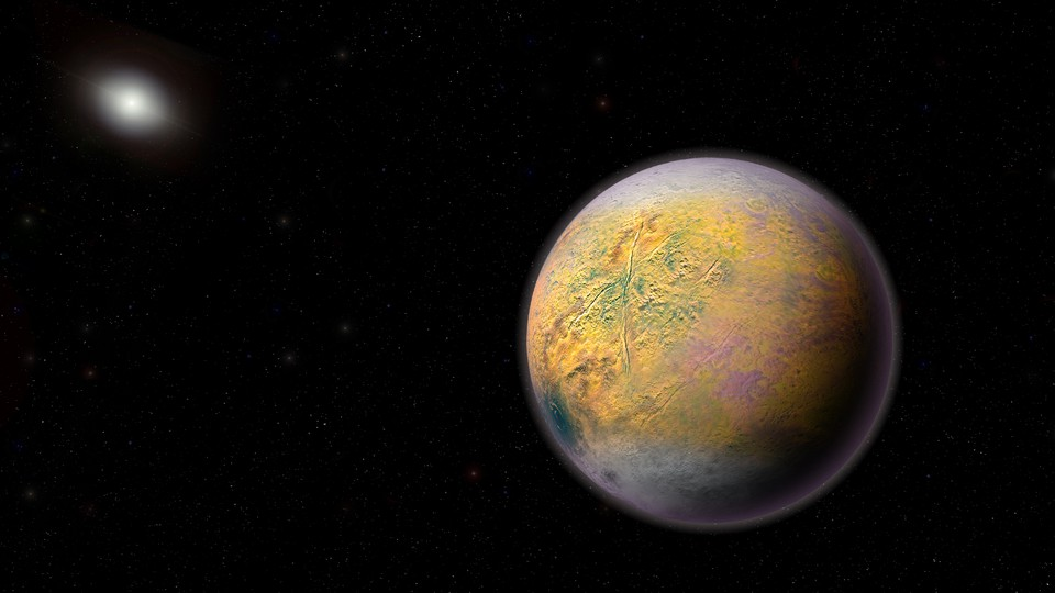 Artist's impression of a planet in space