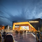 Rendering of the Fusion Arena in Philadelphia, designed by Populous.