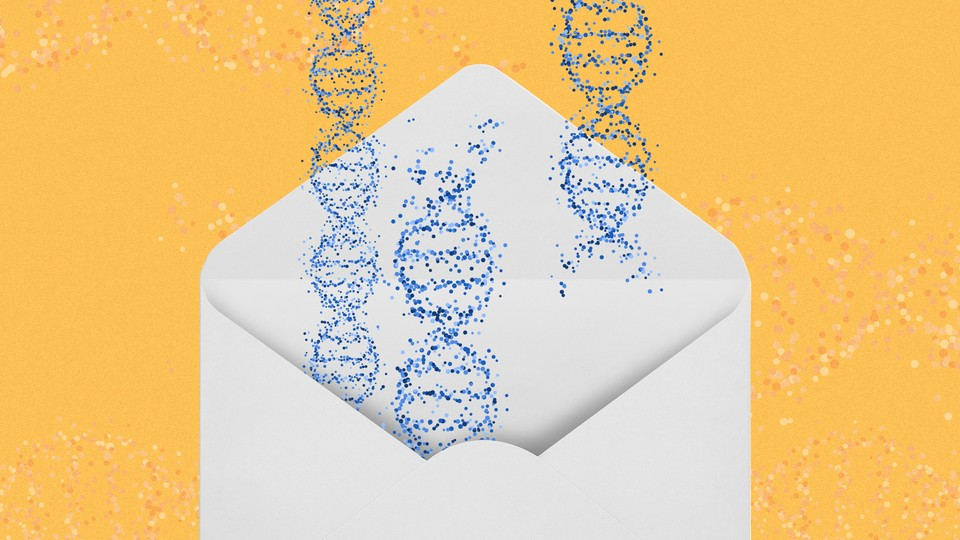 DNA double helixes in an envelope