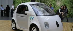 A Waymo driverless car