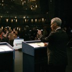 Rahm Emanuel speaks from a podium.