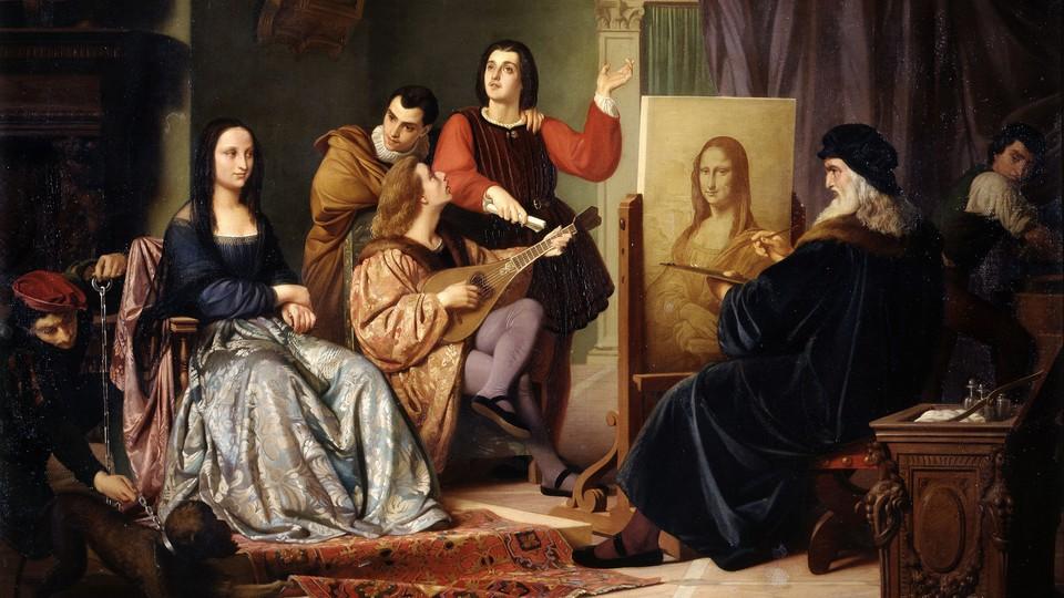 Cesare Maccari's 'Leonardo Che Ritrae la Gioconda'