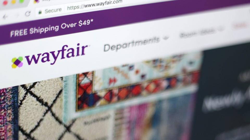 Wayfair's homepage