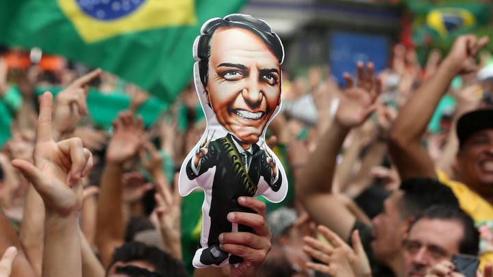 Bolsonaro's supporters at a rally in São Paulo