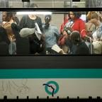 photo: A metro train at Paris' Gare Du Nord.