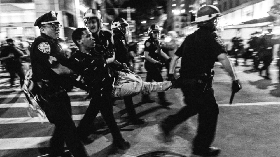 Police arrest a protester in New York City.