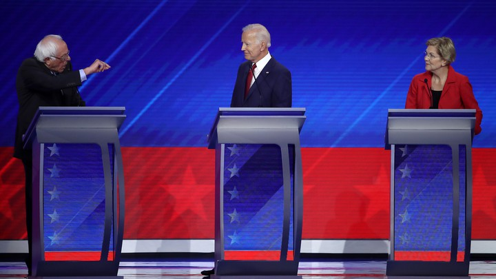 Democratic candidates for president debate at Texas Southern University on September 12, 2019, in Houston, Texas.