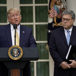 Donald Trump and Bill Barr