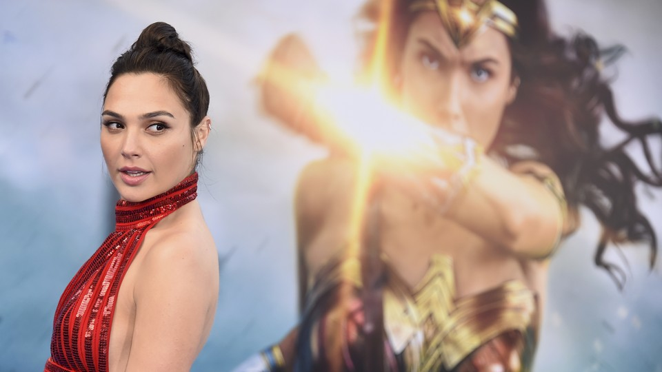 Gal Gadot at the L.A. premiere of 'Wonder Woman'
