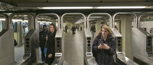 a photo of the New York City subway