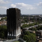 Grenfell Tower is pictured.
