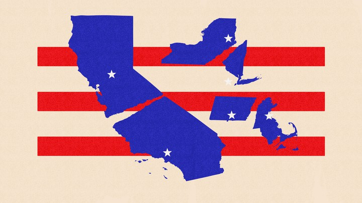 An illustration of states breaking apart.