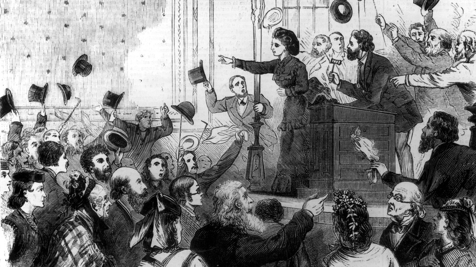 An illustration of Victoria Woodhull