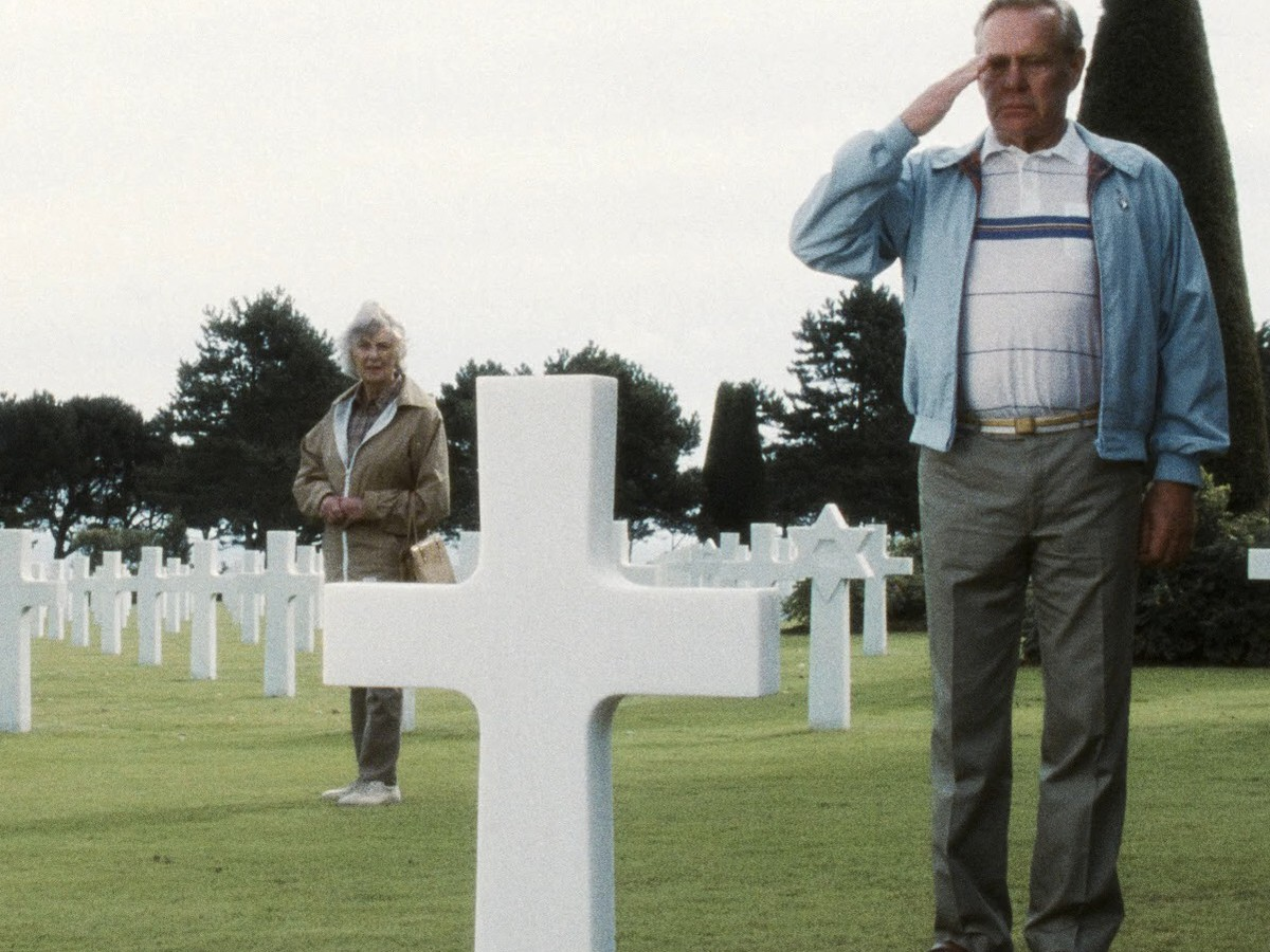 When Private Ryan visits Captain Miller's grave in Saving Private Ryan