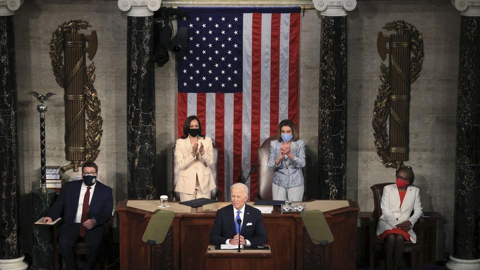 Biden delivers a speech to Congress.