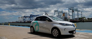 A self-driving car being developed by nuTonomy is pictured.