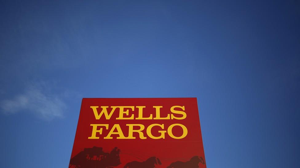 A Wells Fargo sign