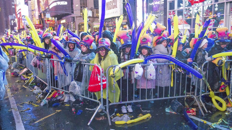 Revelers gather in Times Square in New York