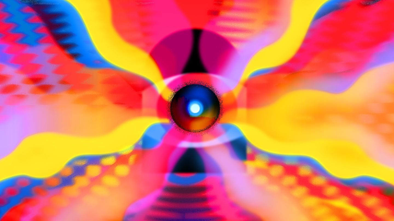 Illustration of futuristic laser