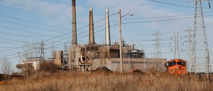 A coal-fired power plant is pictured.