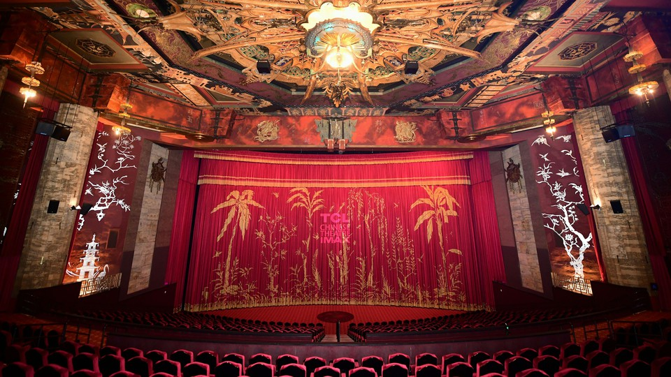 The interior of Grauman's Chinese Theater in Hollywood, CA